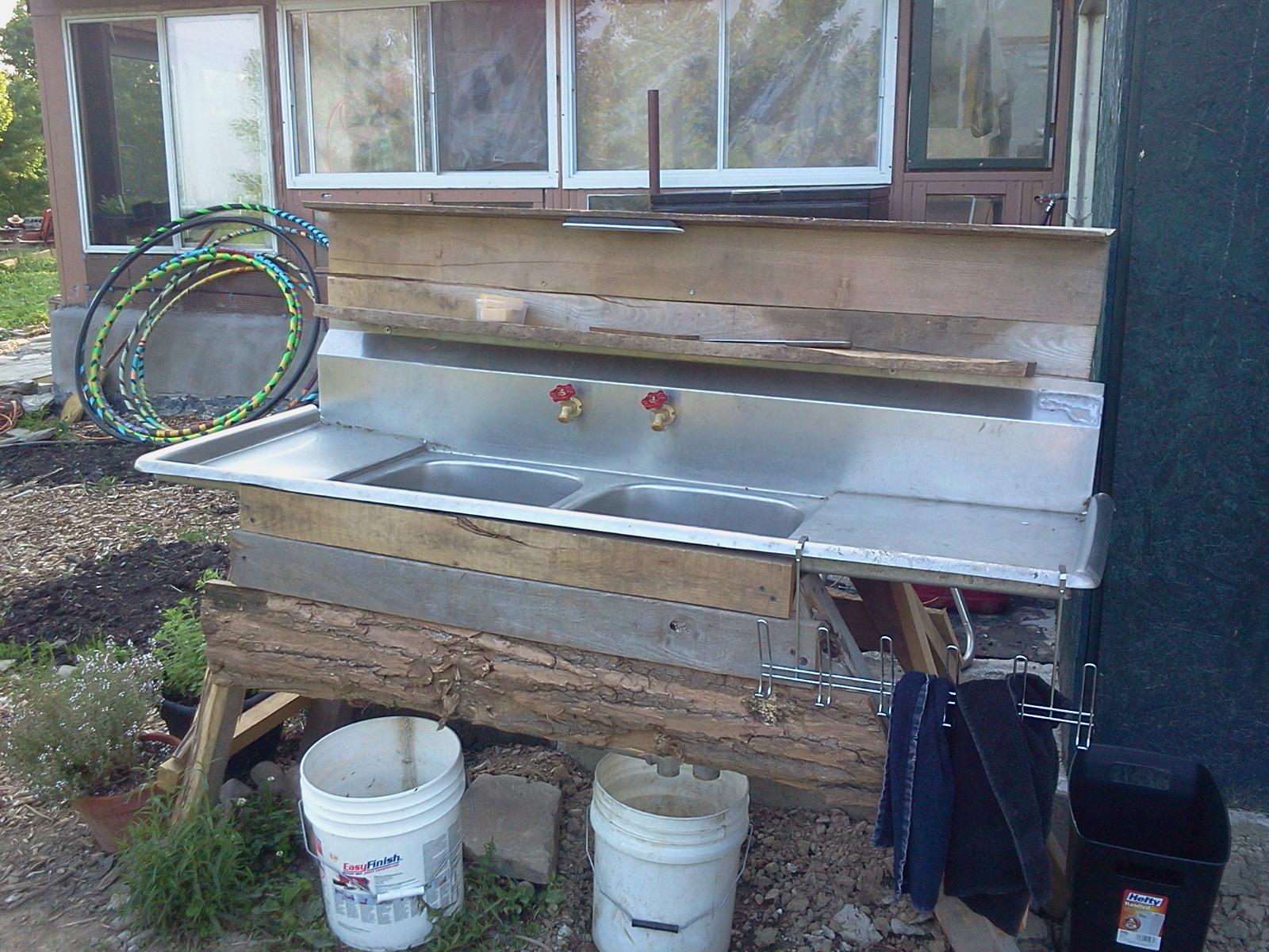Diy outdoor sink outdoor sink